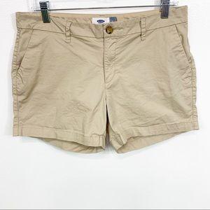 Old Navy Khaki Tan Shorts 5 Inch Inseam Size 8